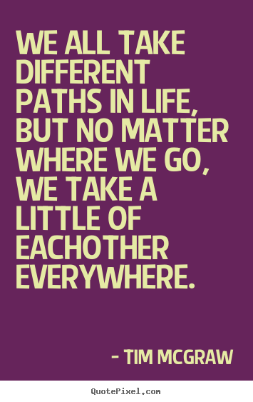 How to make poster quotes about friendship - We all take different paths in life, but no matter where..