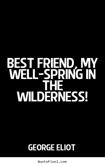 How to make picture quotes about friendship - Best friend, my well-spring in the wilderness!