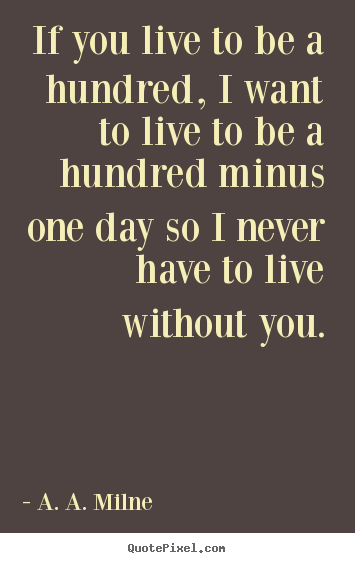 Create your own picture quotes about friendship - If you live to be a hundred, i want to live to be a hundred minus..