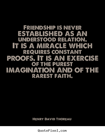 Thoreau essay on friendship