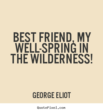 Make custom picture quotes about friendship - Best friend, my well-spring in the wilderness!