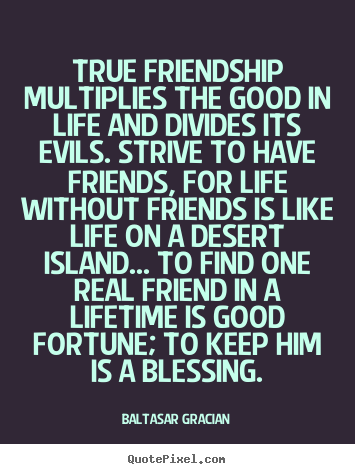 Quote About Friendship   True Friendship Multiplies The Good In Life And  Divides.