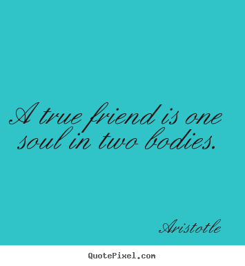 Quotes about friendship - A true friend is one soul in two bodies.