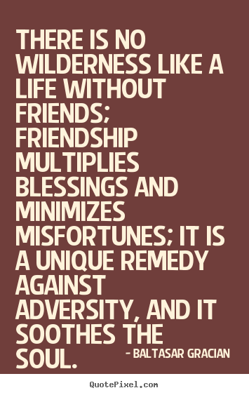 Friendship Quotes There Is No Wilderness Like A Life Without
