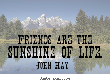 Friends are the sunshine of life. John Hay top friendship quotes
