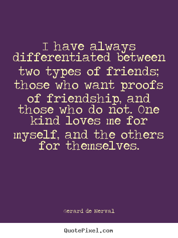 Classifications of types of friendships