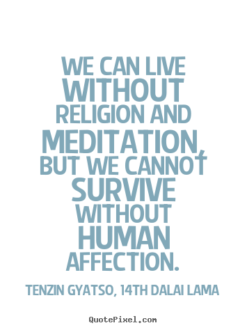 Friendship quotes - We can live without religion and meditation, but we cannot survive without..