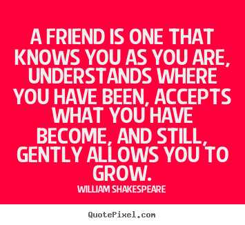 Quotes About Friendship   A Friend Is One That Knows You As You Are,  Understands