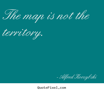 Diy poster quote about inspirational - The map is not the territory.