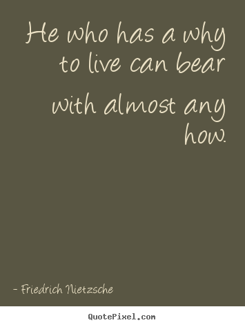 He who has a why to live can bear with almost.. Friedrich Nietzsche top inspirational quotes