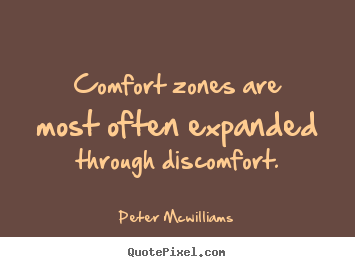 Peter Mcwilliams picture quotes - Comfort zones are most ...