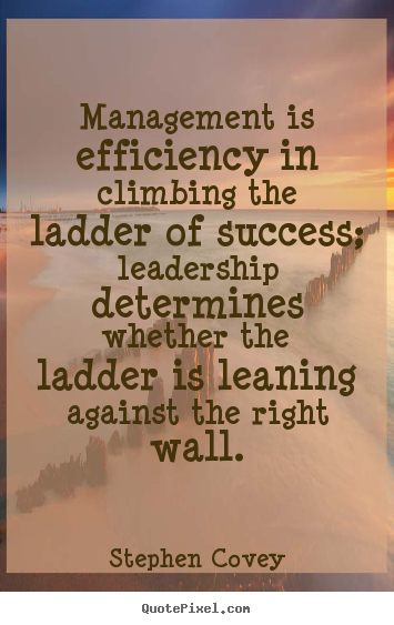 inspirational quotes management is efficiency in