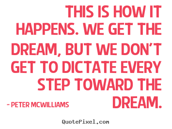 Design custom picture quotes about inspirational - This is how it happens. we get the dream,..