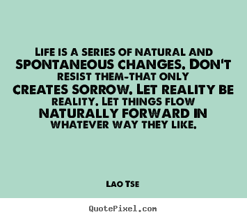 How to design image quote about inspirational - Life is a series of natural and spontaneous..
