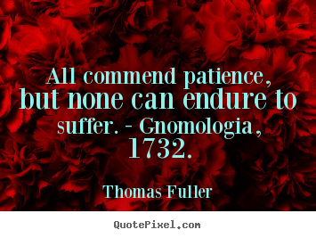 Quotes about inspirational - All commend patience, but none can endure to..