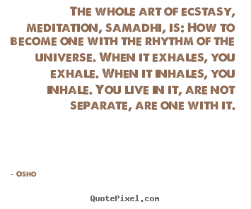 Quotes about inspirational - The whole art of ecstasy, meditation, samadhi,..
