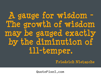 Quote about inspirational - A gauge for wisdom - the growth of wisdom may be gauged exactly by the..