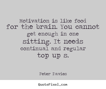 Create graphic image quote about inspirational - Motivation is like food for the brain. you cannot get enough in one..
