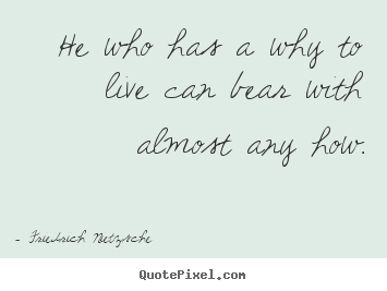 Quotes about inspirational - He who has a why to live can bear with almost any how.