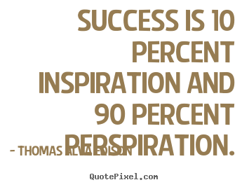 How To Make Picture Quotes About Inspirational   Success Is 10 Percent  Inspiration And 90 Percent