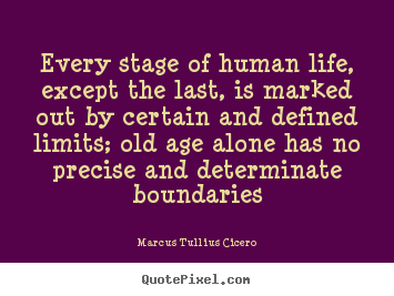 Quotes about life - Every stage of human life, except the last,..