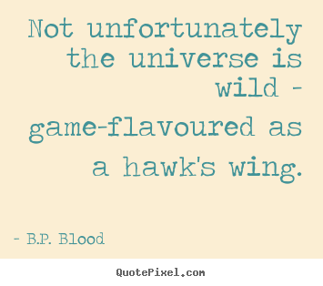 Life sayings - Not unfortunately the universe is wild - game-flavoured..