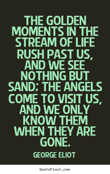 Quotes about life - The golden moments in the stream of life rush past..