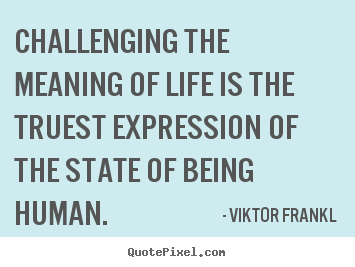Diy image quotes about life - Challenging the meaning of life is the truest expression of the state..