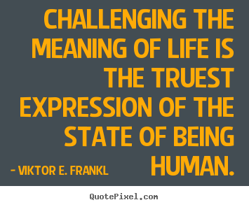 Quotes about life - Challenging the meaning of life is the truest..