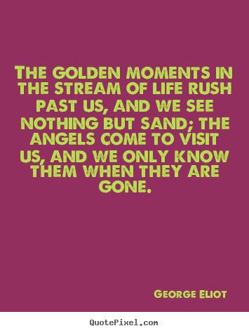 Life quotes - The golden moments in the stream of life rush past..