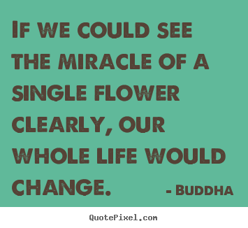 Quotes about life - If we could see the miracle of a single flower clearly, our whole life..