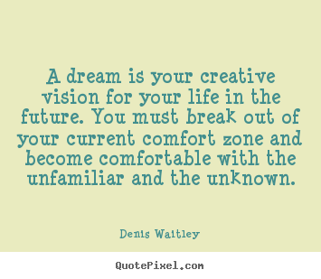 Quote about life - A dream is your creative vision for your life in the future. you must..