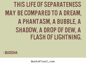 Life quotes - This life of separateness may be compared to..