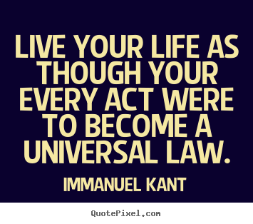 Quotes about life - Live your life as though your every act were to become..