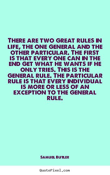 exception to the general rule