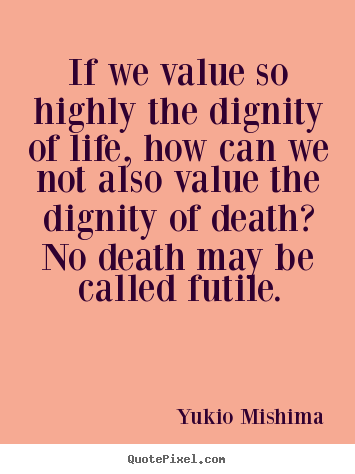 dignity of good values