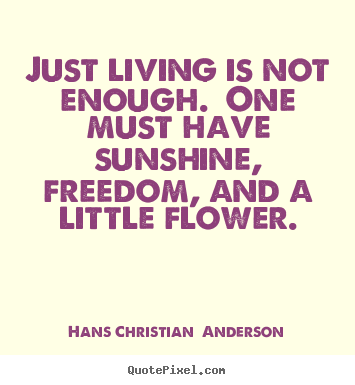 Christian Life Quotes Glamorous Quote About Life  Just Living Is Not Enoughone Must Have