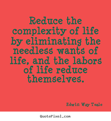 Quotes about life - Reduce the complexity of life by eliminating the needless..