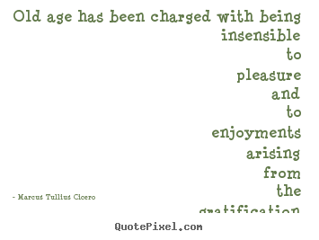 Old age has been charged with being insensible.. Marcus Tullius Cicero best life quote