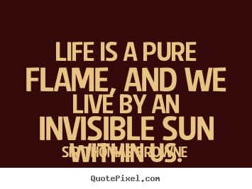 Life quotes - Life is a pure flame, and we live by an..