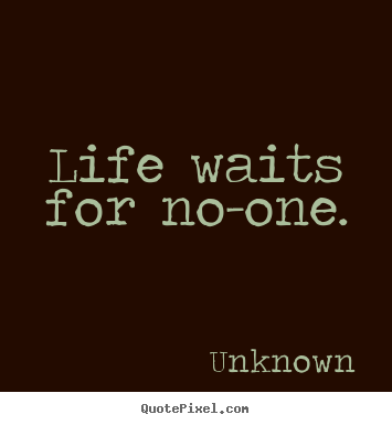 Unknown Photo Quotes Life Waits For Noone Life Quote Magnificent Unknown Quotes About Life