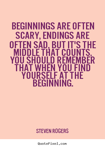 Make personalized picture quotes about life - Beginnings are often ...