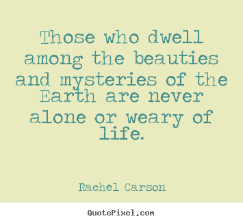 Those who dwell among the beauties and mysteries.. Rachel Carson  life quotes