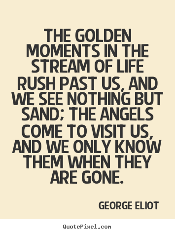 Quote about life - The golden moments in the stream of life rush..
