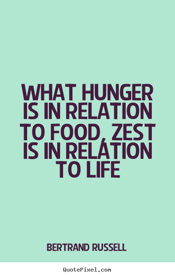 Hunger Quotes Custom What Hunger Is In Relation To Food Zest Is In Relation.bertrand