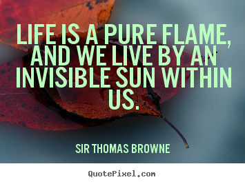 Quotes about life - Life is a pure flame, and we live by an invisible..
