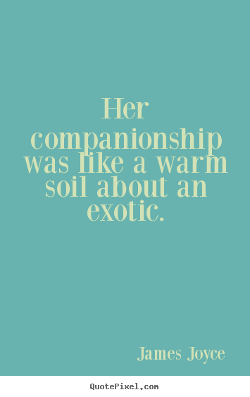 Love quote - Her companionship was like a warm soil about an exotic.