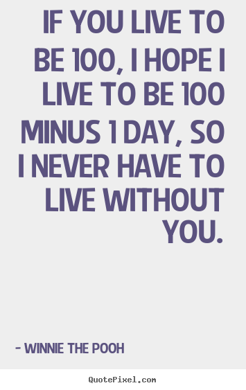 If You Live To Be 100 I Hope I Live To Be 100 Minus 1 Day
