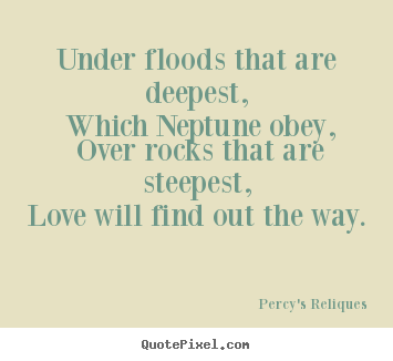 under floods that are deepest which neptune percy 39 s