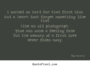 Design custom image quotes about love - I worked so hard for that first kissand a..
